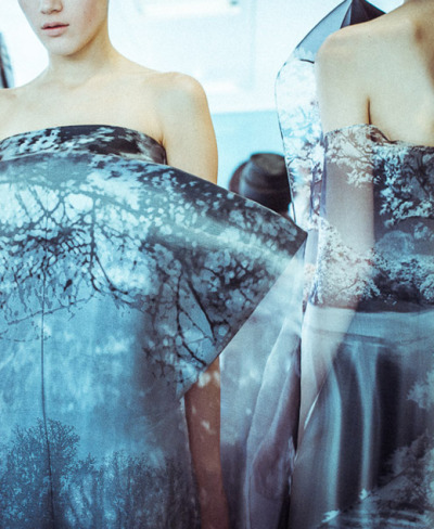 bienenkiste:  Mary Katrantzou Fall/Winter 2013 backstage by Morgan O'Donovan