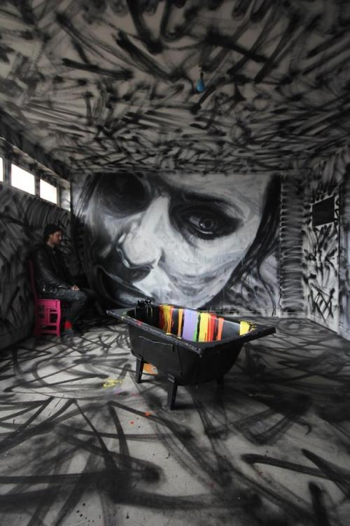 thecluelessdetective:  Beautiful painting. By David Walker. Photo by Pedro Seixo Rodrigues. Part of one of David Walker's new projects. Details not released yet.