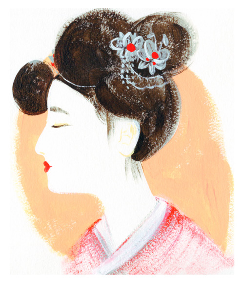 Currently in love with the intricacy of gisaeng hairstyles, something I fell short on showcasing in this sketch. Definitely an idea I will come back to in the future!