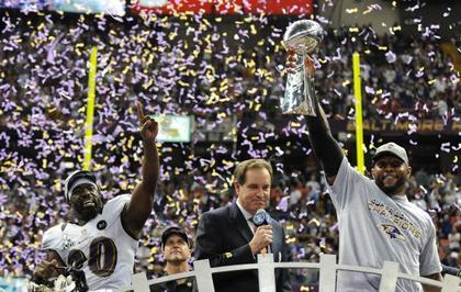 "Random Observations from Super Bowl XLVII What a difference a decade makes. When the Ravens won their first Super Bowl following the 2000 season I was a listless twentysomething reveling in the post-game aftermath with a bunch of other half-in-the-tank ne'er-do-wells on the city streets of Baltimore. I watched that game at a friend's apartment in Bolton Hill. As the final seconds ticked off the clock we took to the streets. We were hugged and high-fived by random people as we made our way down Charles St. The purple-clad throng grew as we approached the Inner Harbor. It was full-scale mayhem. I've never been slapped on the back, high-fived, and hugged so many times in my life. We finished the night in Fells Point as a group of a few hundred fans chanted ""Fuck New York!"" in the middle of Broadway.Sunday night we watched the game at a friend's house, with a total of eight kids in attendance. The kids mostly played in the basement and stuffed themselves full of purple cupcakes while the parents watched the game. My son would occasionally run upstairs to ask how many more points the Ravens needed to win. I had neither the time nor inclination to explain the intricacies of NFL scoring at that moment so I just told him, ""One buddy. One more point.""  Continue Reading"