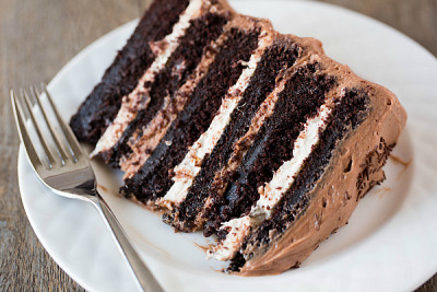Six Layer Chocolate Cake with recipe (link)