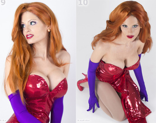 Cosplay of the day: Jessica Rabbit by Kay Pike Via