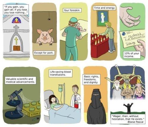 Pascal's Wagerhttp://proud-atheist.tumblr.com