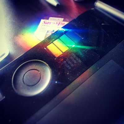 Rainbow on the Wacom #rainbow #wacom #art #pad #webstagram #editsrus #editjunkie #igaddict #instamood #instasnap #photooftheday #all_shots #spectacular_works #gmy #nyc  (at MHCG Inc. )