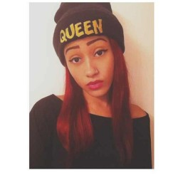 baddqueens:  @lucidgyal rocking her QUEEN beanie.  👑