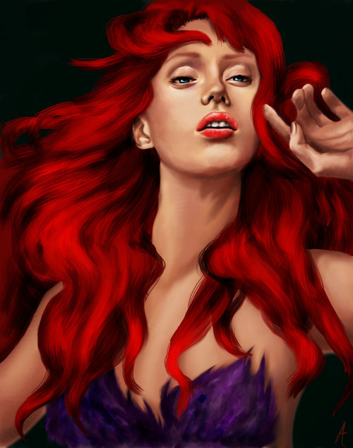 Little Mermaid; Ariel painting  http://liberiangurrl.deviantart.com/art/Real-Princess-Ariel-367046969?q=gallery%3Aliberiangurrl&qo=0