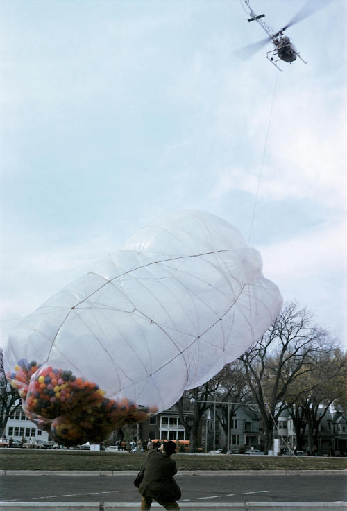 42,390 Cubic Feet Package, Minneapolis, Minnesota, 1966 — Christo and Jeanne-Claude