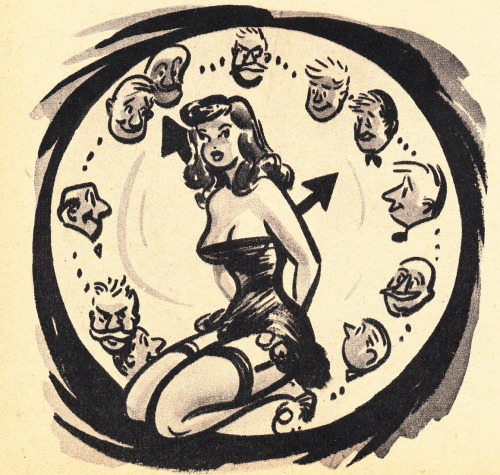 Bill Wenzel draws the typical day of a woman VINTAGE SLEAZE THE BLOG  Follow Vintage Sleaze on Facebook)