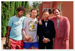 eye-contact:  On the set of Pulp Fiction