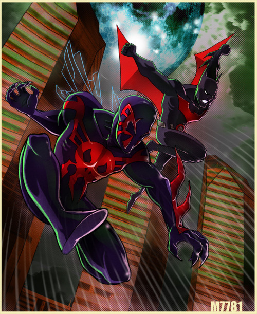 batman beyond spider-man 2099 by *m7781