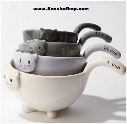 niftyncrafty:  We got the cutest kitty cat measuring cups in stock!  Perrrfect Mother's Day gift. http://www.konokoshop.com/product-category/new-arrivals/  How cute!!