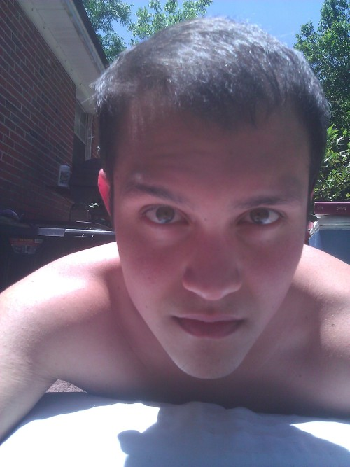 laying in the sun ;)