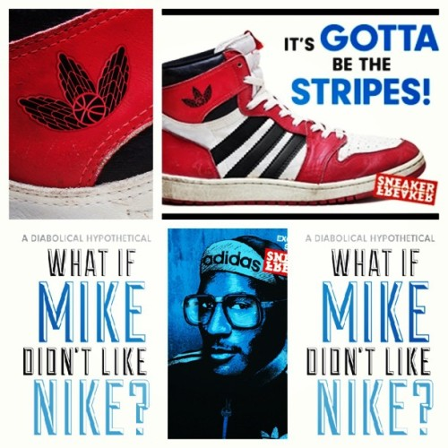 What if???? #picstitch #nba #nike #jordan #adidas #what #if #ifollow #dope #dopeness #heezageek #thegeek #foodforthought #good #instacool #instapic #instagood #instafollow #instajordan #sneaker #shoes #follow