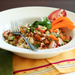 Wheat Berries and Lobster Salad-5 by Sonia! The Healthy Foodie on Flickr.