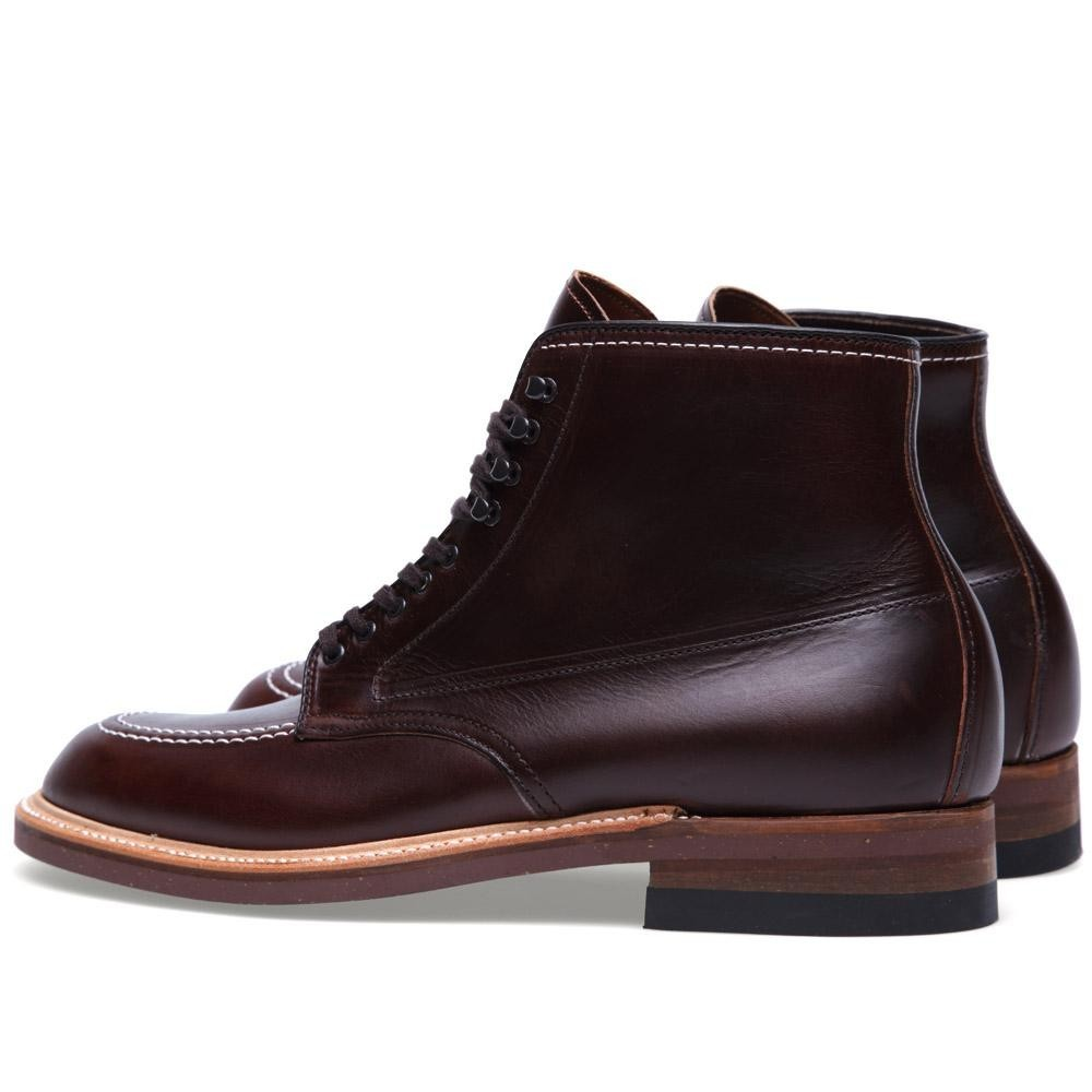 diefreelivefresh:  Alden 'Indy' Boot X StyleshotIf you your an avid movie watcher in which I am, (I watch at least 3 new movies a week ) and you love Indiana Jones then you will really love these Alden 403 boots. These have been named the Indy because this style was actually worn by Harrison Ford in the movie. Same concept as before with any thing we post on here high integrity goods and superb construction. As we scout and source for a our new leather suppliers this gives us the motivation to get it right.  This Alden 403 boot is affectionately known as the 'Indy' boot, having been worn by Harrison Ford in the 'Indiana Jones' films. Chosen for its rugged charm, the Indy is a classic ankle-height work boot style, with a contrast stitched toe. This version is constructed from Horween Chromexcel leather, with a full glove leather lining, Goodyear welted outsole and a stacked sole with a rubber 'Foot Balance' heel for enhanced comfort and durability.      source Originally published on http://divideconqurir.com/alden-indy-boot-x-styleshot/
