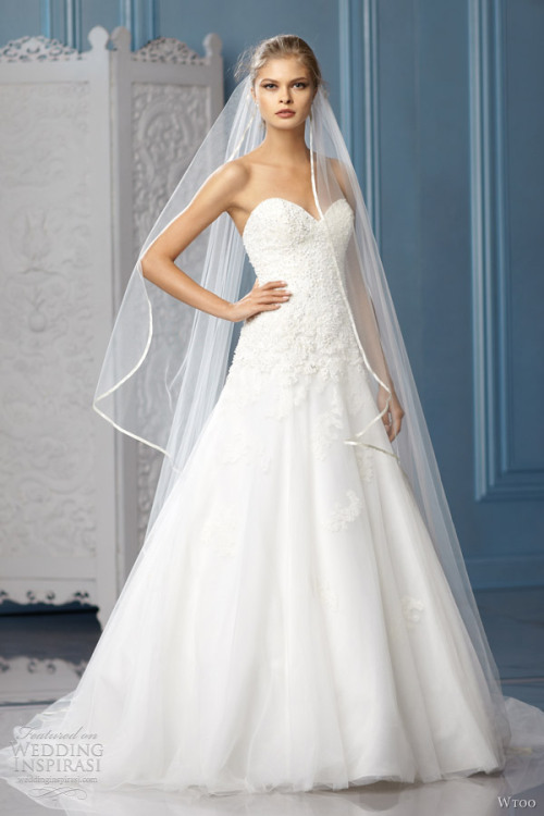 helloweddingdiary:  Wtoo Spring 2013 bridal collection  So pretty