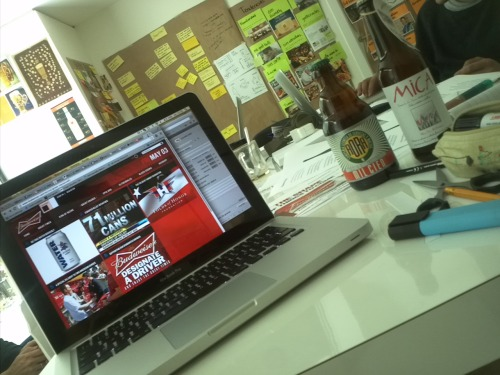 Friday, beer and work …
