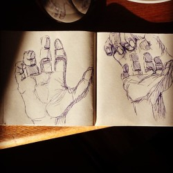 More hand sketches #art #artist #artwork #sketch #sketchbook #drawing #illustration #pen #hands