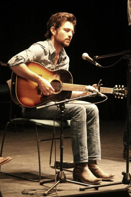 oksoiwaswrongabout:  Scott Avett during the Songwriting Workshop at MerleFest.