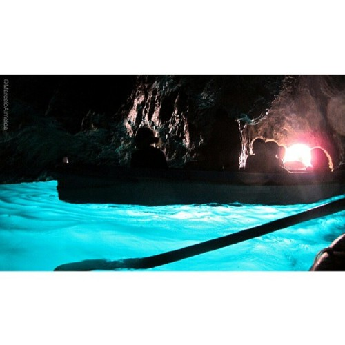 promise me that you will go there at least once in life. Blue Cave - Capri - Amalfi Coast #Italy #seascape #people #silhouette
