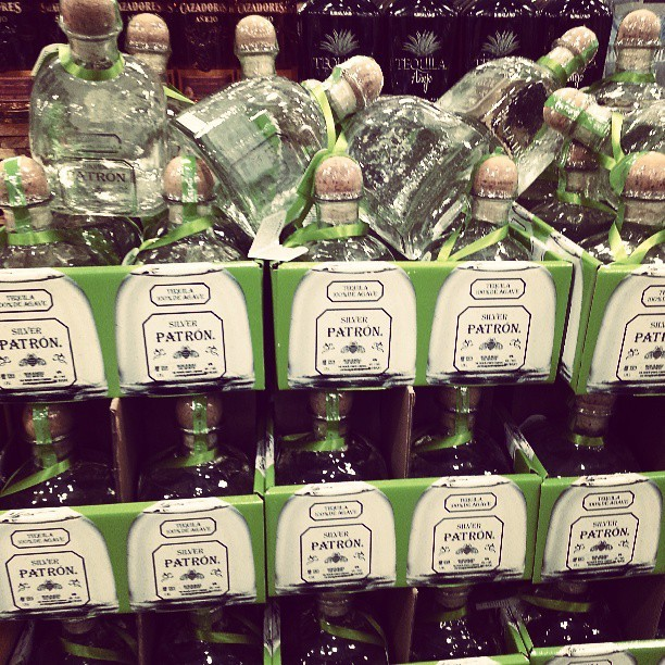 pumpkinlipsandcheapdolls:  Bottles and bottles of Patron like it's no big deal. #costco #sanfrancisco #california #SFO #ratchet #patron #nbd  (at Costco)