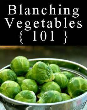 Cooking Tip: Blanching Vegetables 101Before adding veggies to a liquid, bring it to a boil first.  The least amount of time they're in the water, the more nutrients they'll retain.  Plus, green veggies will stay greener if you leave the pot uncovered while cooking.