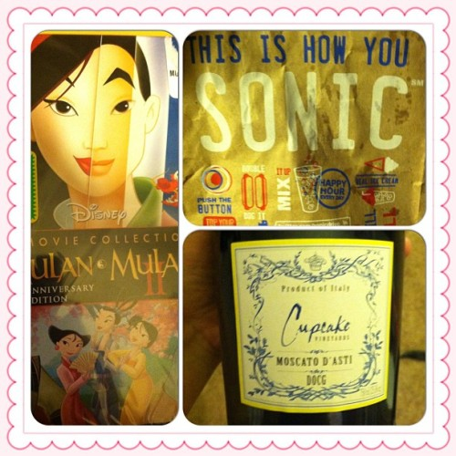 Makings of a good night  #i<3mulan #SONIC #winekeepsmesane #instacollage
