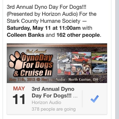 Were getting close to the date for dyno day for dogs which is May 11. Please come if you love cars and animals. If you don't like animals on follow me you trick ass bitch. #dynoday #dyno #cars #dogs #charity #canton #ohio #stark #county #horizonaudio #wetzelperformance