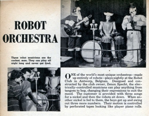 I get the desire to make robots to play music, but why make them in the form of a creepy snowman and Santa Claus?  (via retronaut)