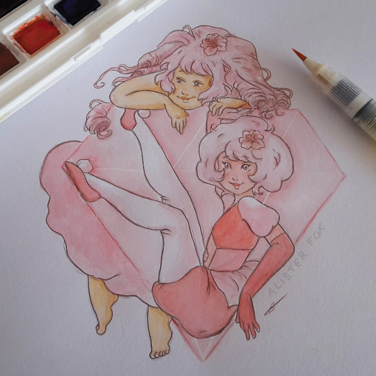 Pink diamond and Rose quartz, of course I wanted to draw her since I watched a single pale rose…This episode! I'm not going to lie, I didn't see that one coming! Oh and obviously, I'm also working on...