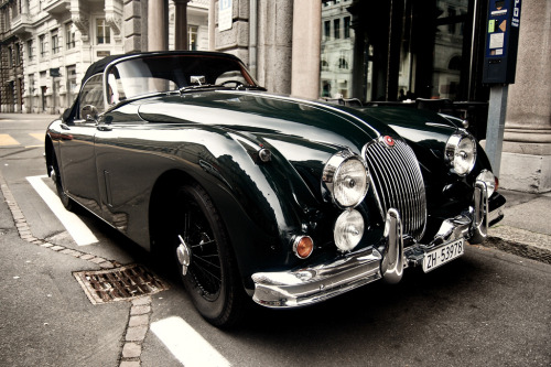 itcars:  Jaguar XK150 Image by D.Los  Meanwhile, in Zürich Lovely shot of this XK150.