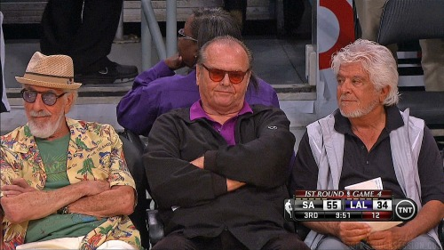 Nicholson not pleased. lol