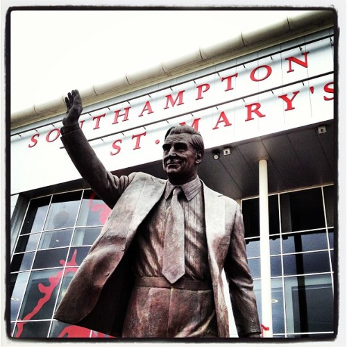 Ted Bates' statue outside St Mary's  (at St Mary's Stadium)