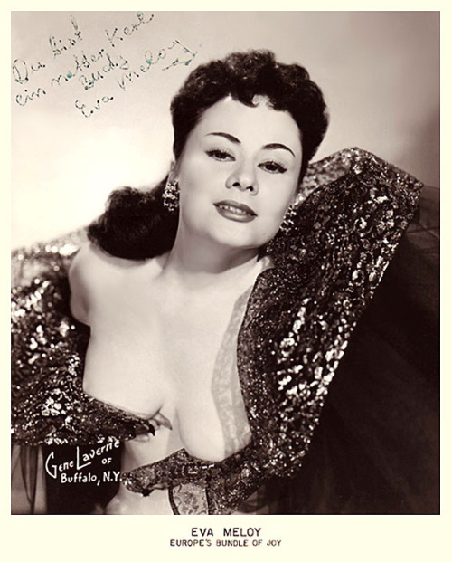 Eva Meloy Vintage 50's-era signed promo photo.. I'm guessing Eva is German?