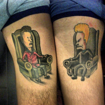 Best friends tattoos done by Stretch and Frank at Empire Tattoo in Blackwood, NJ. brianraley.tumblr.com, ryanfetters.tumblr.com