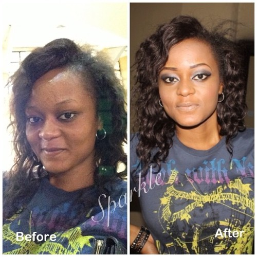 Did this 😊#mua #makeup #beforeandafter #sparkle #mualife