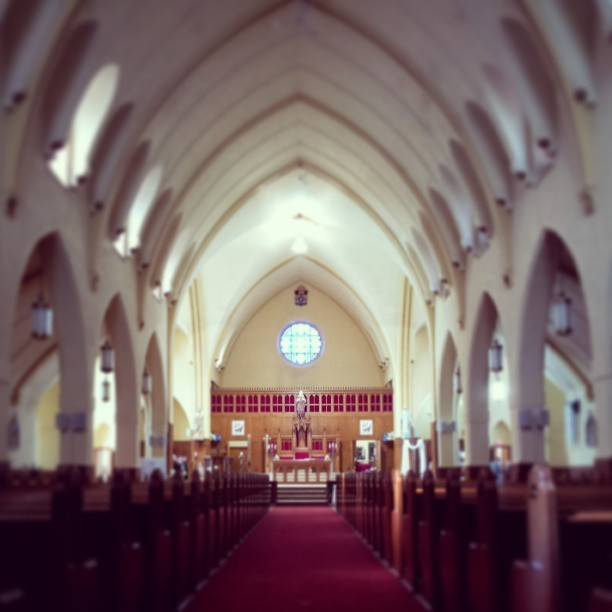 Sacred-Heart #Cathedral in #Bathurst #NewBrunswick.  (at Cathédrale du Sacré-Coeur de Bathurst)