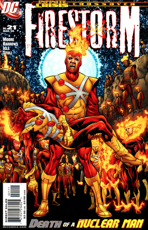 The last issue of Firestorm come out this week. I thought this would be appropriate. Thanks again DC.