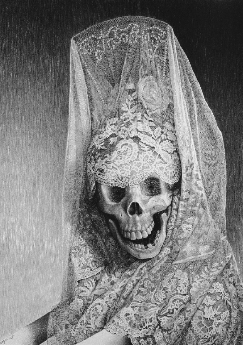 mylittleghoulie:  Lady Death by Laurie Lipton