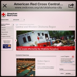 For those looking to donate to Oklahoma right now, here's the Website & Red Cross twitter page: @RedCrossOKC - DOUBLE TAP & TAG YOUR FRIENDS TO SPREAD THE WORD!!! #DonateToOKC