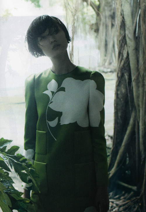 "virare:  ""A Simple Plan"" Wang Xiao by Laurie Bartley for Elle US March 2013"