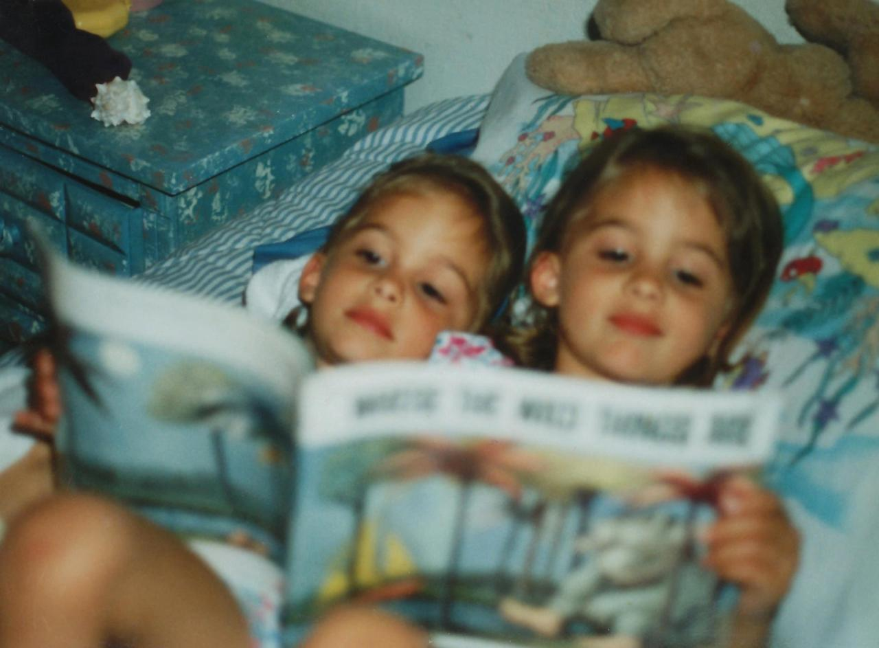 the good old days, my sister & i