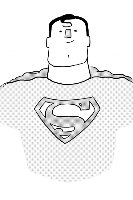 I drew you a stupid, silly-looking Superman. Because I love you.