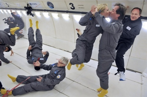 Got $7,800? You can experience zero-gravity on this European flight. (Photo: Mehdi Fedouach / AFP - Getty Images) Civilian passengers of the Airbus A330 Zero-G, who are not astronauts nor scientists, enjoy weightlessness, on March 15, during the first zero gravity flight for paying passengers in Europe. See more photos.