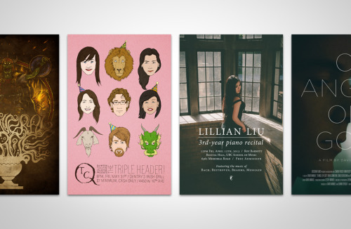 Hello, I've just uploaded some posters I've done for various events over the past few years. Click through for designs including cartoons, photography and typography! #design #art #poster #illustration