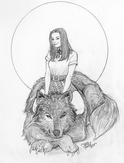 Snow White and Bigby, from Fables. Woof.