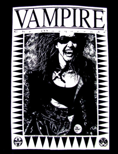 What? WHAT? $50 dollars for a Vampire: the Masquerade t-shirt?! Paging StuntHusband and fanboy-news-network, I think the Wayback Machine is broken.