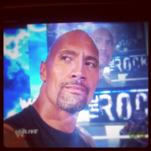 The Rock… What a lad. #me #watching #wwe #therock #wrestling #bored #sheffield #lol #notevenashamed #tv #satnightentertainment