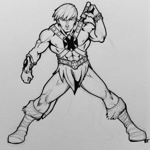 Do you have the power? #heman #mastersoftheuniverse #drawings #art