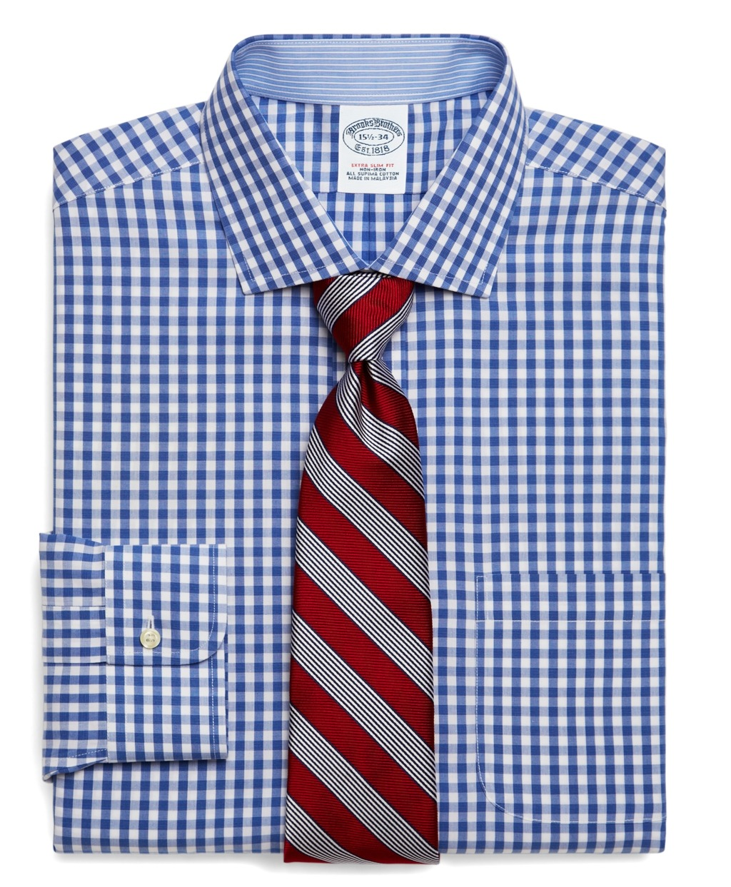 Gingham dress shirt at Brooks Brothers